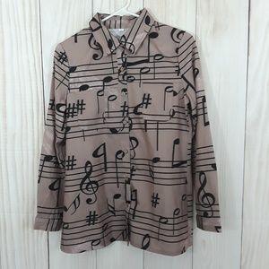 Music Note Design Shirt